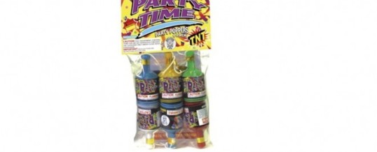 PARTY TIME PARTY POPPERS
