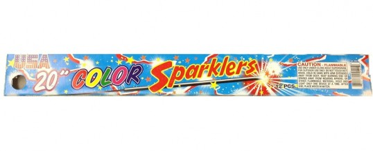 USA 20 INCH COLOR SPARKLER